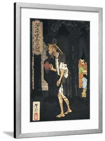 Side Profile of a Man Holding a Teapot--Framed Giclee Print