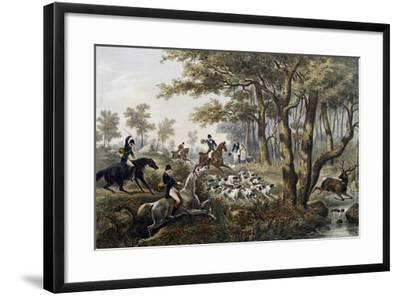 Hunt, Lithograph, France, 19th Century--Framed Giclee Print