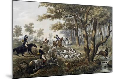 Hunt, Lithograph, France, 19th Century--Mounted Giclee Print