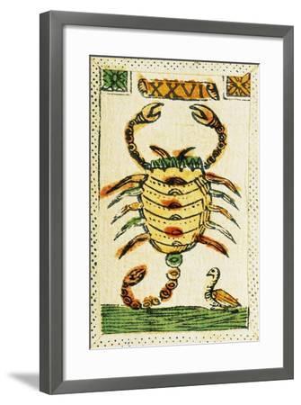Tarot Card for Scorpio, 16th Century, Italy--Framed Giclee Print
