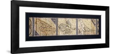 A Calligraphic Scroll, C.1878-9--Framed Giclee Print