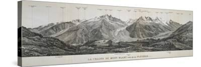 Mont Blanc Massif Mountain Range, France, 20th Century--Stretched Canvas Print