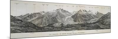Mont Blanc Massif Mountain Range, France, 20th Century--Mounted Giclee Print