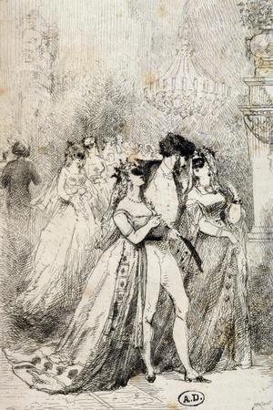 Masquerade Ball, France, 19th Century--Framed Giclee Print