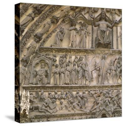 Last Judgement, Tympanum of the Central Portal of West Facade--Stretched Canvas Print