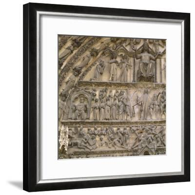 Last Judgement, Tympanum of the Central Portal of West Facade--Framed Giclee Print