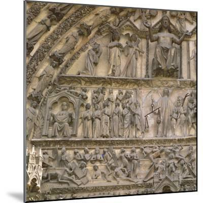 Last Judgement, Tympanum of the Central Portal of West Facade--Mounted Giclee Print