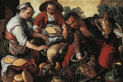 Poultry Market, by Joachim Beuckelaer (1530-1575)--Framed Giclee Print