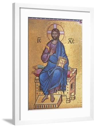 Mosaic Depicting Christ on Throne--Framed Giclee Print