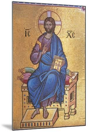 Mosaic Depicting Christ on Throne--Mounted Giclee Print