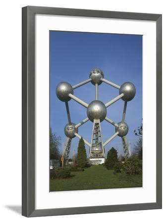 Low Angle View of the Atomium, Brussels, Belgium--Framed Giclee Print