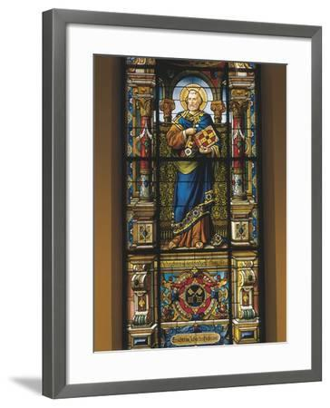 Stained Glass Window of St. Peter, Stockholm, Sweden--Framed Giclee Print