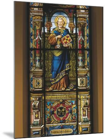 Stained Glass Window of St. Peter, Stockholm, Sweden--Mounted Giclee Print