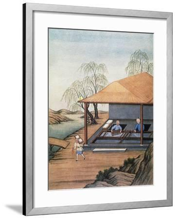 Old Paper Mill, Colour Print, China, 18th Century--Framed Giclee Print
