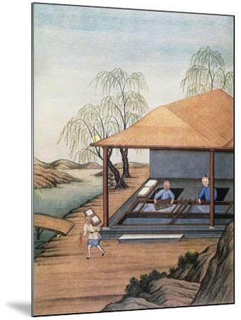 Old Paper Mill, Colour Print, China, 18th Century--Mounted Giclee Print