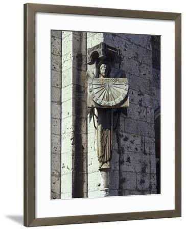 Angel Statue on the Wall of a Cathedral, Notre Dame, Chartres, France--Framed Giclee Print