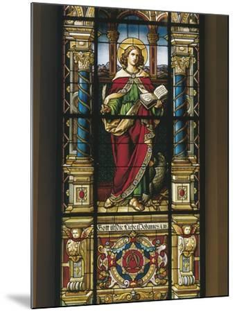 Stained Glass Window of St. John the Evangelist, Stockholm, Sweden--Mounted Giclee Print