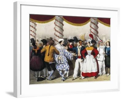 Goguette Characters, Engraved by Clement Pruche, France, 19th Century--Framed Giclee Print