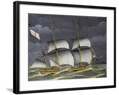 Ligurian Polacca under Windy Conditions, Tempera, 18th Century--Framed Giclee Print