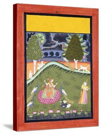 Gormalar Ragini, C. 1740--Stretched Canvas Print