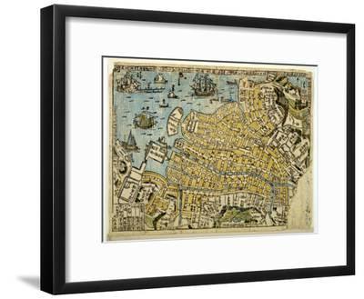 Map of Nagasaki, C.1801--Framed Giclee Print