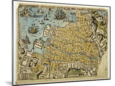 Map of Nagasaki, C.1801--Mounted Giclee Print