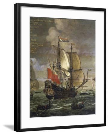 Whaling, Painting by Johannes Becx (Active 1658-1686), Detail--Framed Giclee Print