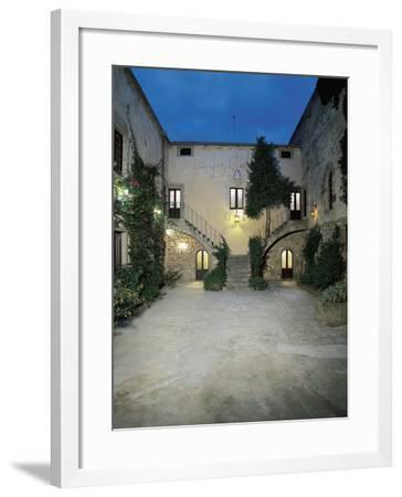 Plants in the Courtyard of a Castle, Sanluri, Sardinia, Italy--Framed Giclee Print