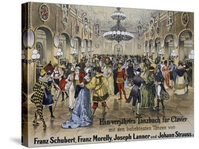 Sperl Saal Dance Hall in Vienna, Print. Austria, 19th Century--Stretched Canvas Print