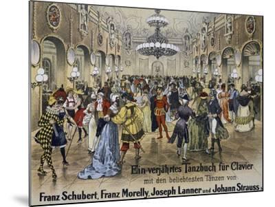 Sperl Saal Dance Hall in Vienna, Print. Austria, 19th Century--Mounted Giclee Print