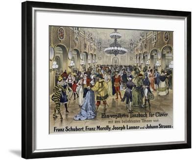 Sperl Saal Dance Hall in Vienna, Print. Austria, 19th Century--Framed Giclee Print