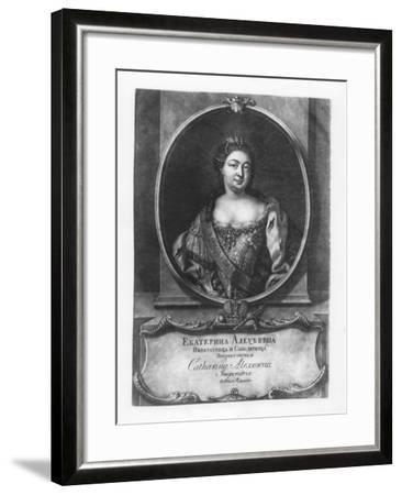 Catherine I of Russia--Framed Giclee Print