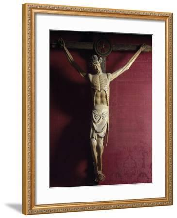 Wooden Crucifix, Sulmona Cathedral, Italy, Detail--Framed Giclee Print