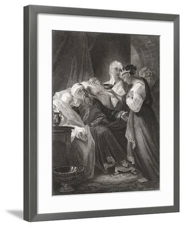 David and Bathsheba, from a 19th Century Print--Framed Giclee Print