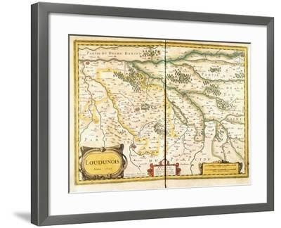 Map of Loudunois in 1627, 1631--Framed Giclee Print