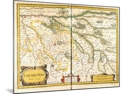 Map of Loudunois in 1627, 1631--Mounted Giclee Print