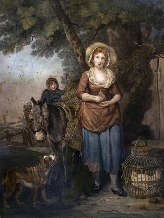 Back from Market, 1789, Uk, 18th Century--Framed Giclee Print
