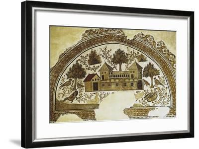 Mosaic Depicting Country Farm, from Sousse, 3rd-4th Century, Tunisia--Framed Photographic Print