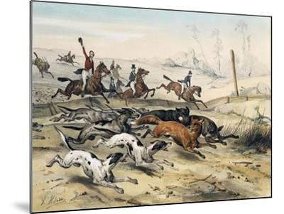 Fox Hunting, by Jean Victor Adam (1801-1866)--Mounted Giclee Print