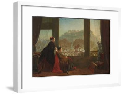 Portrait of the Baroness Burdett Coutts and Her Companion Mrs. Brown, Edinburgh, 1874--Framed Giclee Print