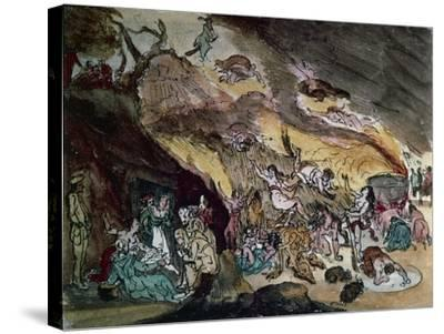 Witches' Sabbath, Drawing--Stretched Canvas Print
