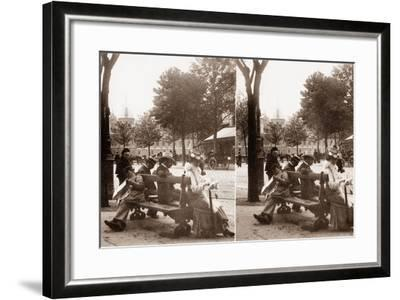 Stereoscopic View of Place Du Châtelet, Paris, 1890--Framed Photographic Print
