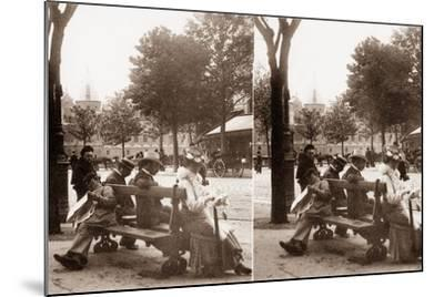 Stereoscopic View of Place Du Châtelet, Paris, 1890--Mounted Photographic Print