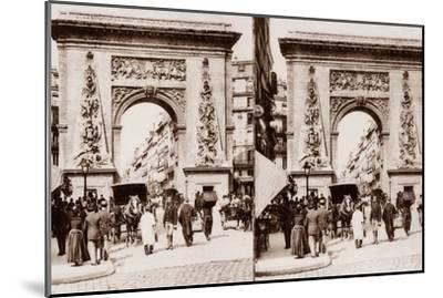 Stereoscopic View of Porte St Denis, Paris, 1890--Mounted Photographic Print