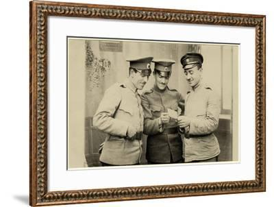 Bulgarian Soldiers Enjoying a Photo, C.1914--Framed Photographic Print