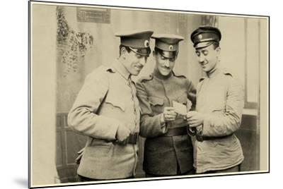 Bulgarian Soldiers Enjoying a Photo, C.1914--Mounted Photographic Print