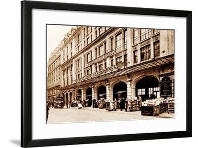 Shipping Department, Le Bon Marché, Paris, 1900--Framed Photographic Print
