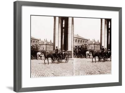 Stereoscopic View of the Panthéon, Paris, 1890--Framed Photographic Print
