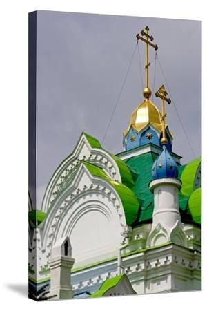 The Domes of the Sv Ekaterininskaya Church, Feodosia, Crimea, Ukraine--Stretched Canvas Print