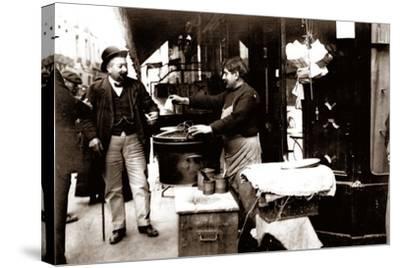 Chestnut Seller, Paris, 1900--Stretched Canvas Print